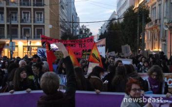 Με συνθήματα κατά των έμφυλων διακρίσεων και των γυναικοκτονιών διαδήλωση στην Αθήνα
