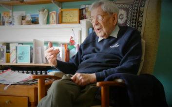 Η αστεία απάντηση του «αιώνιου εφήβου» των 111 ετών για το «μυστικό» της μακροζωίας του