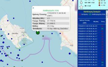 Σεισμός τώρα ανοιχτά της Ζακύνθου