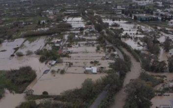 Οι μεγάλες καταστροφές στη Σητεία από ψηλά
