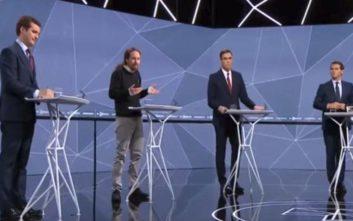 Ανέβηκαν οι τόνοι στο debate των πολιτικών αρχηγών στην Ισπανία