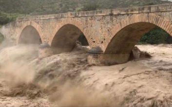 Κινδυνεύει γέφυρα ηλικίας 135 ετών από την κακοκαιρία στην Κρήτη