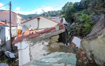 Κραυγή αγωνίας από τους κατοίκους στο Πλωμάρι για τις κατολισθήσεις
