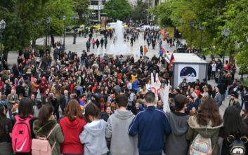 Πορεία με πανό και συνθήματα για τη Γενοκτονία των Αρμενίων στην Αθήνα