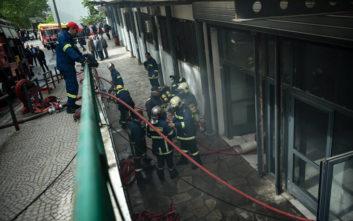 Φωτογραφίες από το κτίριο του ΑΠΘ όπου ξέσπασε η φωτιά