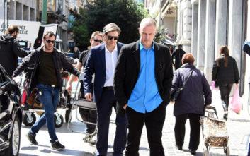 Μπουρδούμης - Λούλης στα γυρίσματα της νέας ταινίας του Γαβρά ως Τσίπρας και Βαρουφάκης