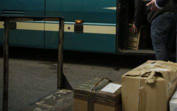 Έξι δέματα με 69 κιλά λαθραίου καπνού βρέθηκαν στην αποθήκη του ΚΤΕΛ Αγρινίου