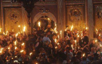 Με λαμπρότητα στα Ιεροσόλυμα η τελετή αφής του Αγίου Φωτός
