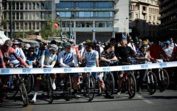 Μεγάλη η συμμετοχή στον 26ο Ποδηλατικό Γύρο της Αθήνας