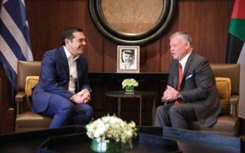 Τσίπρας: Ενδυναμώνεται η ειρήνη από τη συνεργασία Ελλάδας-Κύπρου-Ιορδανίας