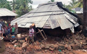 Καταστροφικό πέρασμα του κυκλώνα Κένεθ από τη Μοζαμβίκη