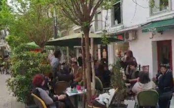 Λογομαχία Καρανίκα με πολίτες στη Θεσσαλονίκη για τη Συμφωνία των Πρεσπών