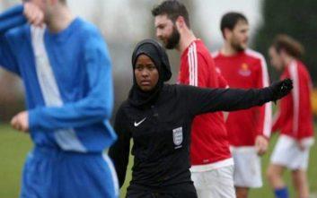 Το παραμύθι της Σομαλής μετανάστριας που έγινε διαιτητής με μαντήλα στην Αγγλία