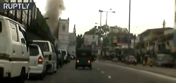 Σρι Λάνκα: Η στιγμή της έκρηξης σε εκκλησία