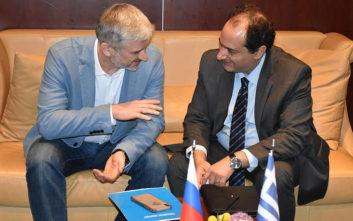 Σπίρτζης: Ενίσχυση της συνεργασίας με τη Ρωσία στις σιδηροδρομικές μεταφορές και υποδομές