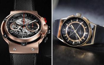 Δύο επιβλητικά χρυσά ρολόγια από τη… Ferrari και την Porsche