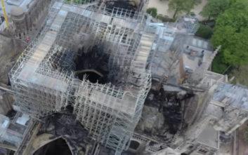 Παναγία των Παρισίων: Βίντεο από ψηλά αποτυπώνει το μέγεθος της καταστροφής