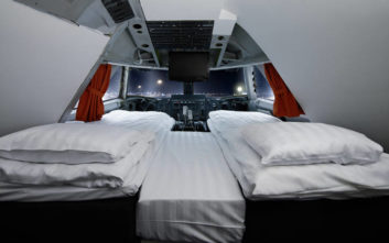 Το αεροπλάνο που μετατράπηκε σε ξενοδοχείο στη Στοκχόλμη