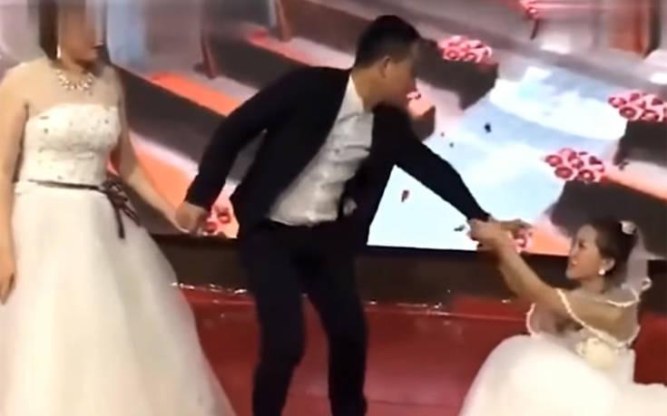 08a00647e8d2 Γυναίκα εισέβαλε στον γάμο του πρώην της φορώντας νυφικό