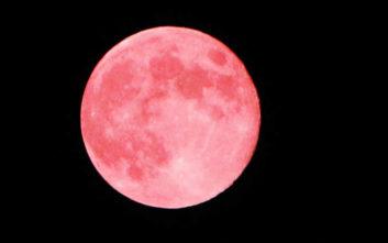 Πανσέληνος Απριλίου: Μοναδικό υπερθέαμα με το ροζ φεγγάρι στον νυχτερινό ουρανό