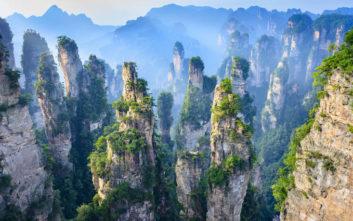 Ένα «εξωγήινο» τοπίο στην καρδιά της Κίνας