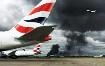 Μεγάλη πυρκαγιά κοντά στο αεροδρόμιο του Χίθροου