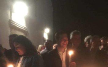 Ανάσταση στην Κρήτη για τον Αλέξη Τσίπρα και την οικογένειά του