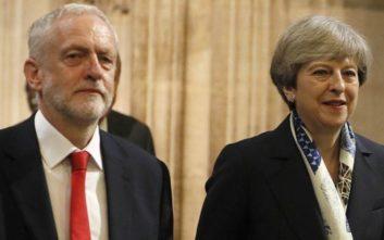 Μέι και Κόρμπιν συμφώνησαν να δώσουν τέλος στην αβεβαιότητα γύρω από το Brexit