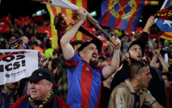 Οι οπαδοί της Μπαρτσελόνα «ξεσήκωσαν» το Λίβερπουλ με συνθήματα