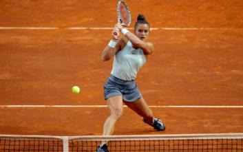 Περίπατος της Σάκκαρη στον πρώτο γύρο του Roland Garros