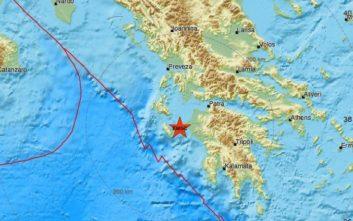Σεισμός τώρα ανατολικά της Ζακύνθου