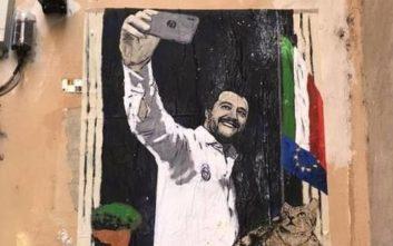 Χαμός στην Ιταλία από έργο δρόμου του Tvboy που διακωμωδούσε τον Σαλβίνι