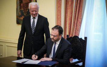 Ορκίστηκε υπουργός Τουρισμού ο Θανάσης Θεοχαρόπουλος