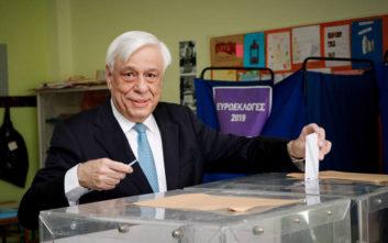 Ευρωεκλογές 2019: Άσκησε το εκλογικό του δικαίωμα ο Προκόπης Παυλόπουλος