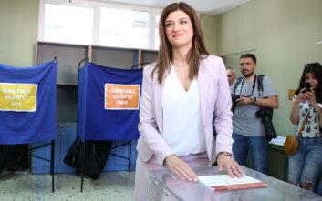 Δημοτικές εκλογές 2019: Το μήνυμα που έστειλε από την κάλπη η Κ. Νοτοπούλου