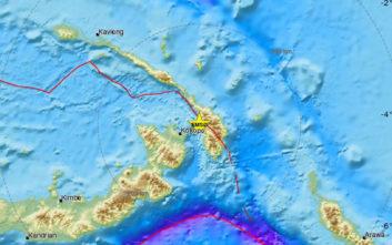 Πολύ ισχυρός σεισμός τώρα στην Παπούα-Νέα Γουινέα