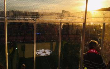 Η άθλια θέα που είχαν οι οπαδοί της Λίβερπουλ στο «Καμπ Νου»