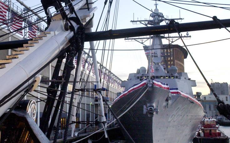 Αμερικανικό πολεμικό πλοίο σε διαφιλονικούμενα ύδατα που διεκδικεί η Κίνα