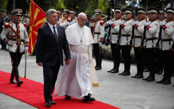 Ιστορική επίσκεψη του Πάπα Φραγκίσκου στα Σκόπια