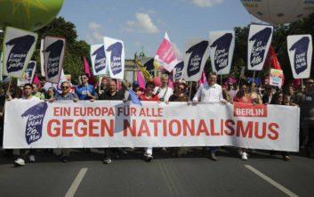Διαδηλώσεις κατά του εθνικισμού σε επτά μεγάλες πόλεις της Γερμανίας