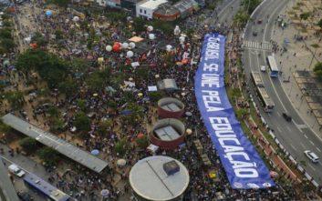 Κύμα διαδηλώσεων κατά του Μπολσονάρου στη Βραζιλία