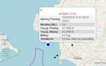 Σεισμός τώρα ταρακούνησε την Πελοπόννησο