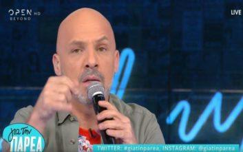 Έξαλλος με έναν… ταξιτζή βγήκε ο Νίκος Μουτσινάς στην εκπομπή του