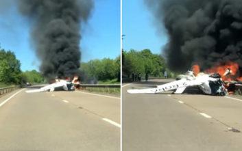 Το αεροσκάφος συνετρίβη μπροστά στο αυτοκίνητό του και εκείνος έτρεξε να σώσει τους επιβάτες