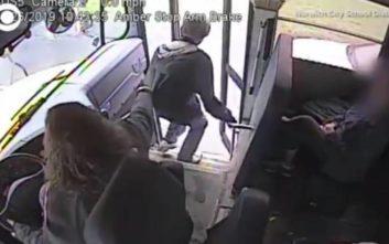 Η άμεση αντίδραση οδηγού σχολικού έσωσε τη ζωή μαθητή