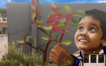 Το γκράφιτι για τους 102 νεκρούς στο Μάτι που συγκινεί