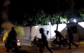 Ο Ρουβίκωνας πίσω από τις μπογιές στο σπίτι του Αμερικανού πρέσβη