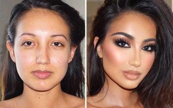 Το εντυπωσιακό πριν και μετά του μακιγιάζ