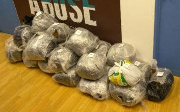 Εικόνες από τα 155 κιλά χασίς που εντόπισε η Αστυνομία στα Εξάρχεια
