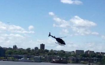 Ελικόπτερο έπεσε στον ποταμό Hudson της Νέας Υόρκης